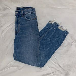 Abercrombie Ultra High Rise Ankle Straight Jeans